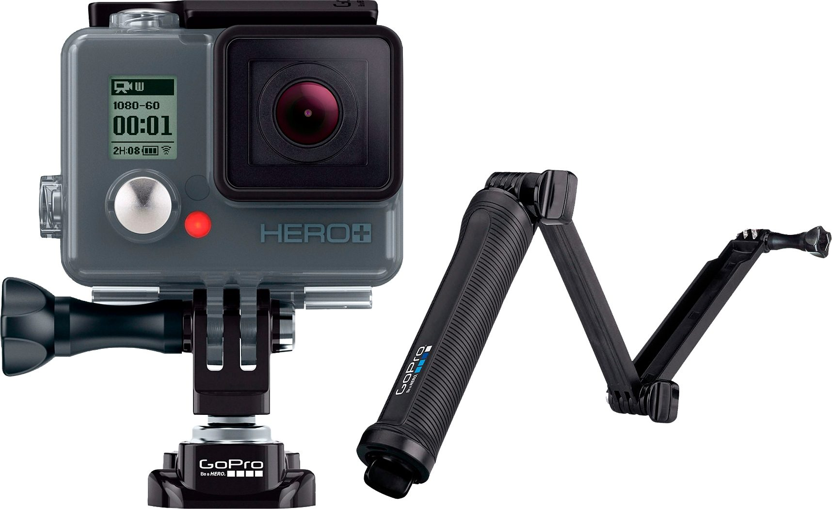GoPro HERO+ LCD & 3-Way Stativ 1080p (Full HD) Actioncam, WLAN, Bluetooth