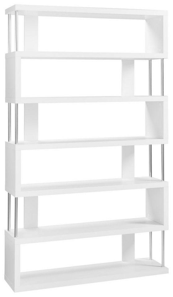 Regal »Reggi«, mit 6 Fächer in weiß