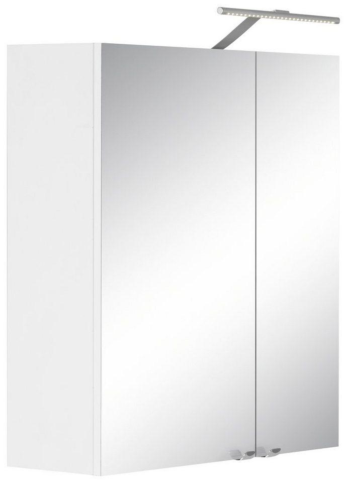 Kesper Spiegelschrank »Binz« mit LED-Beleuchtung in weiß