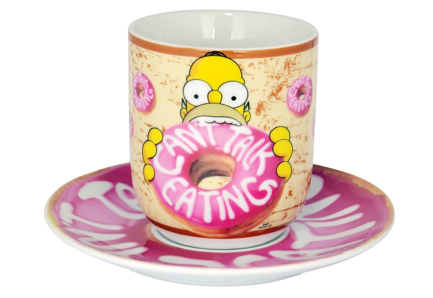 United Labels Tasse mit Untertasse, »The Simpsons, Donut«