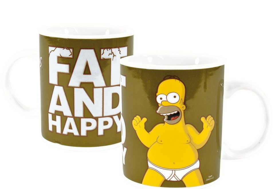 United Labels Tasse, »The Simpsons, Fat and Happy« (2tlg.)