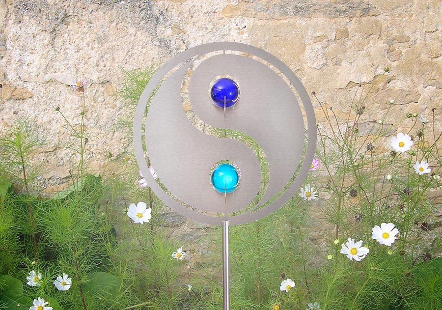 Combini Gartenstecker, »Yin Yang«