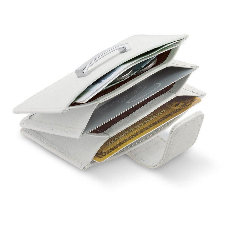 Philippi Philippi Ziehharmonika-Kartenetui DONATELLA in weiß, silber