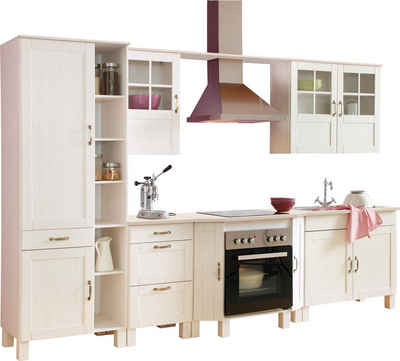 Küchenblock alby breite 325 cm aus massiver kiefer