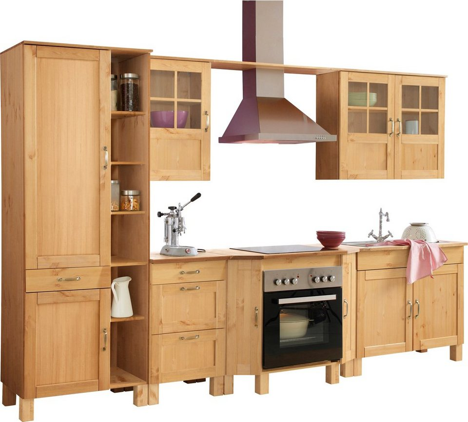 Home affaire Küchen-Set »Alby«, ohne E-Geräte, Breite 325 cm, aus massiver  Kiefer online kaufen | OTTO