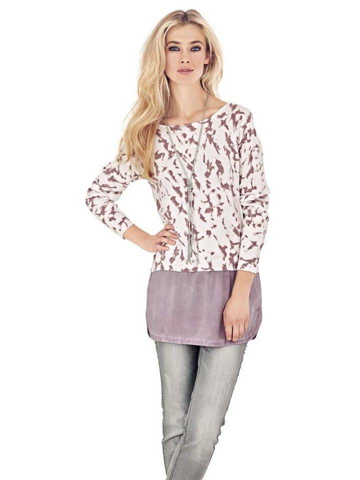 2-in-1-Pullover in rosé