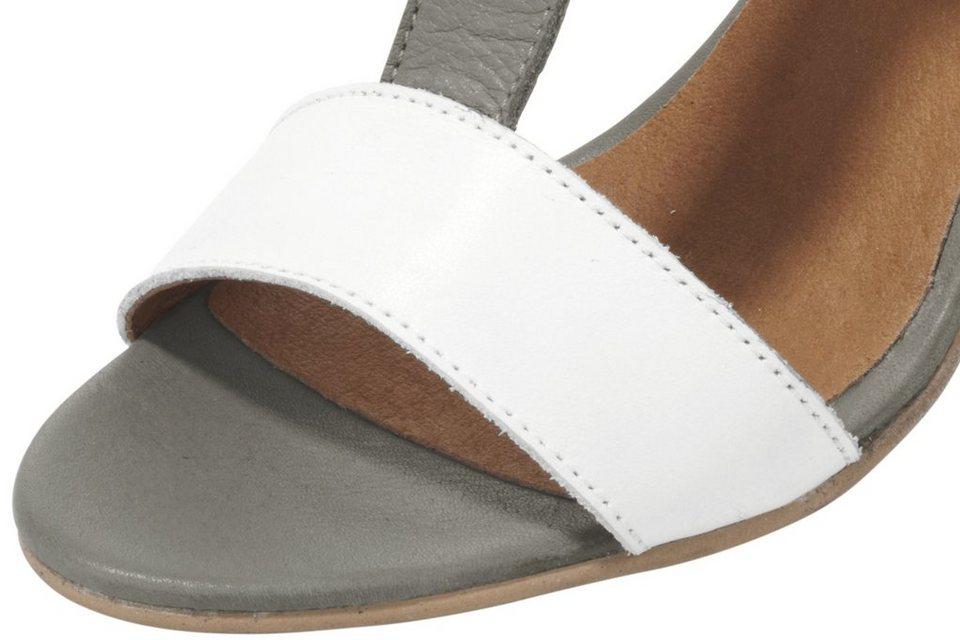 Heine Sandalette in grau/weiß