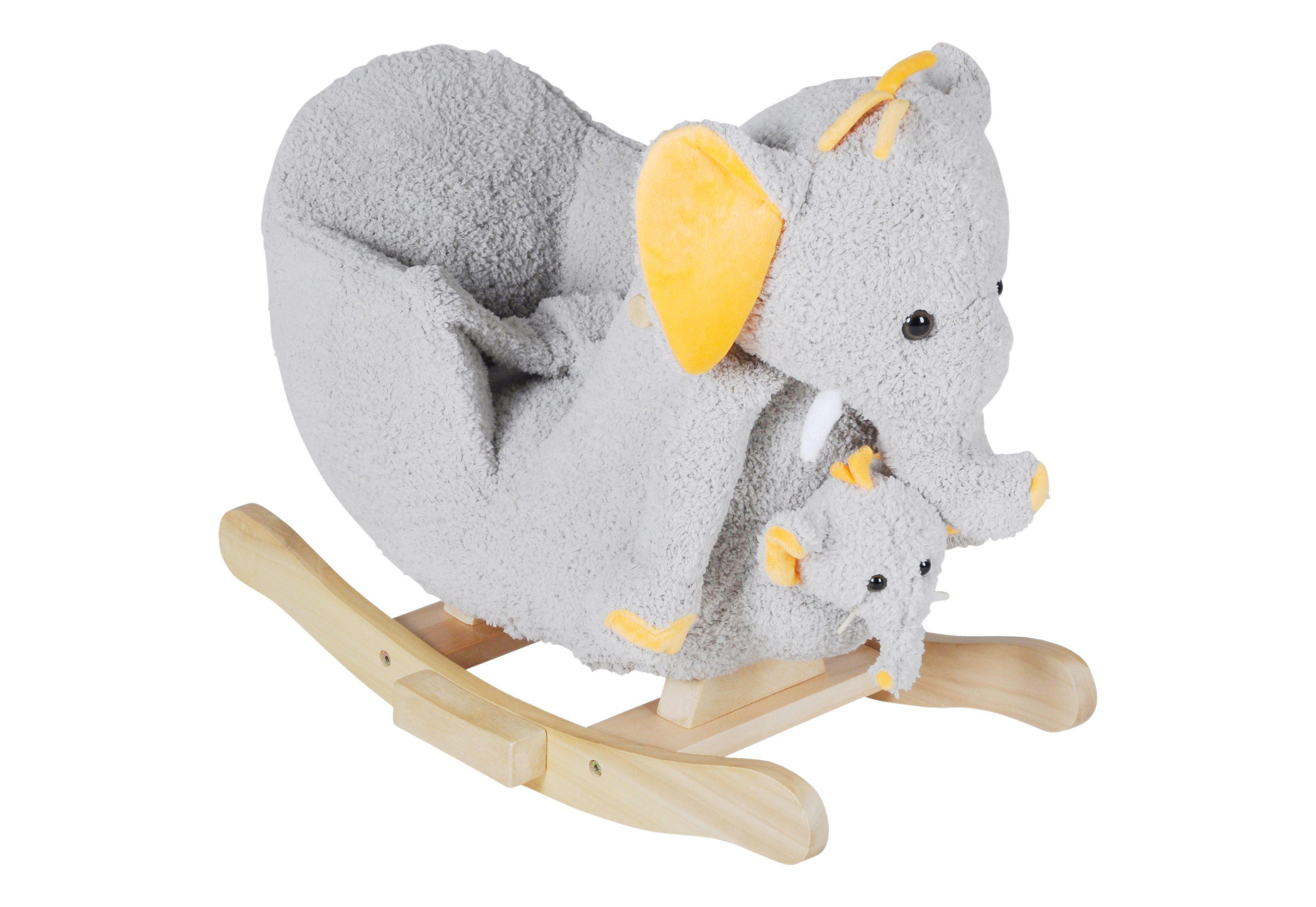 knorr toys Schaukeltier mit Sound und Handpuppe, »Elefant Nele«