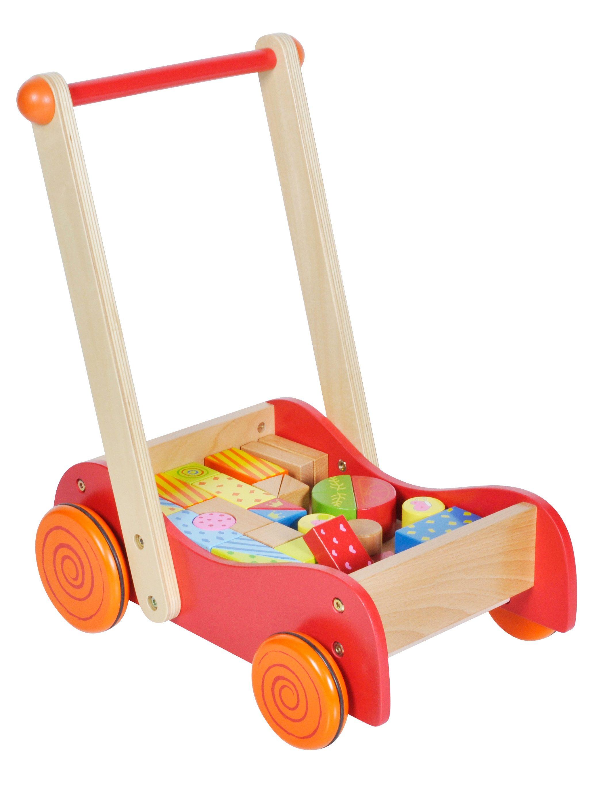 knorr toys Lauflerwagen mit Bausteinen, »Flitzer Freddy«