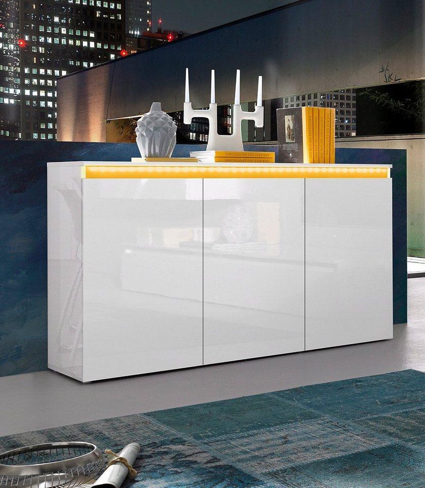 Sideboard weiss 130 cm preisvergleiche for Sideboard 130 cm breit