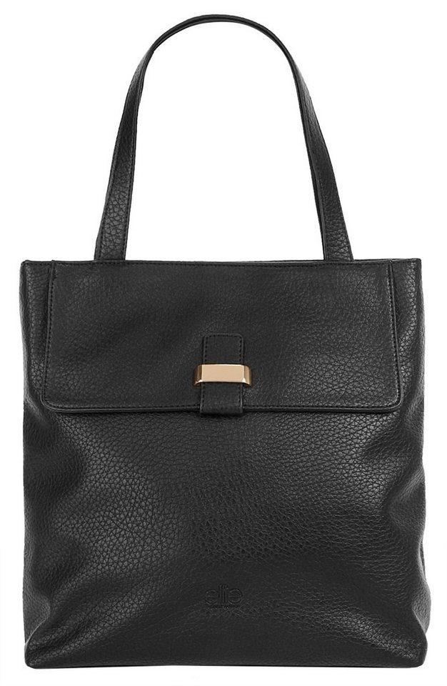 ELITE MODEN Damen Shopper »Léane« in schwarz