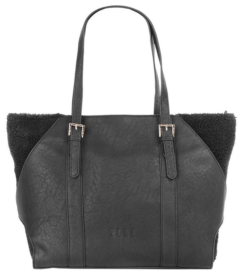 ELLE Damen Shopper »Soft Nature« in schwarz