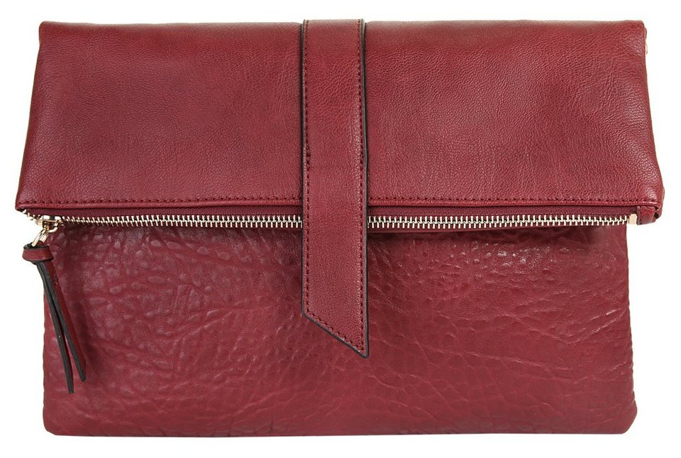 ELLE Damen Abendtasche / Clutch »Urban Chic« in dunkelrot