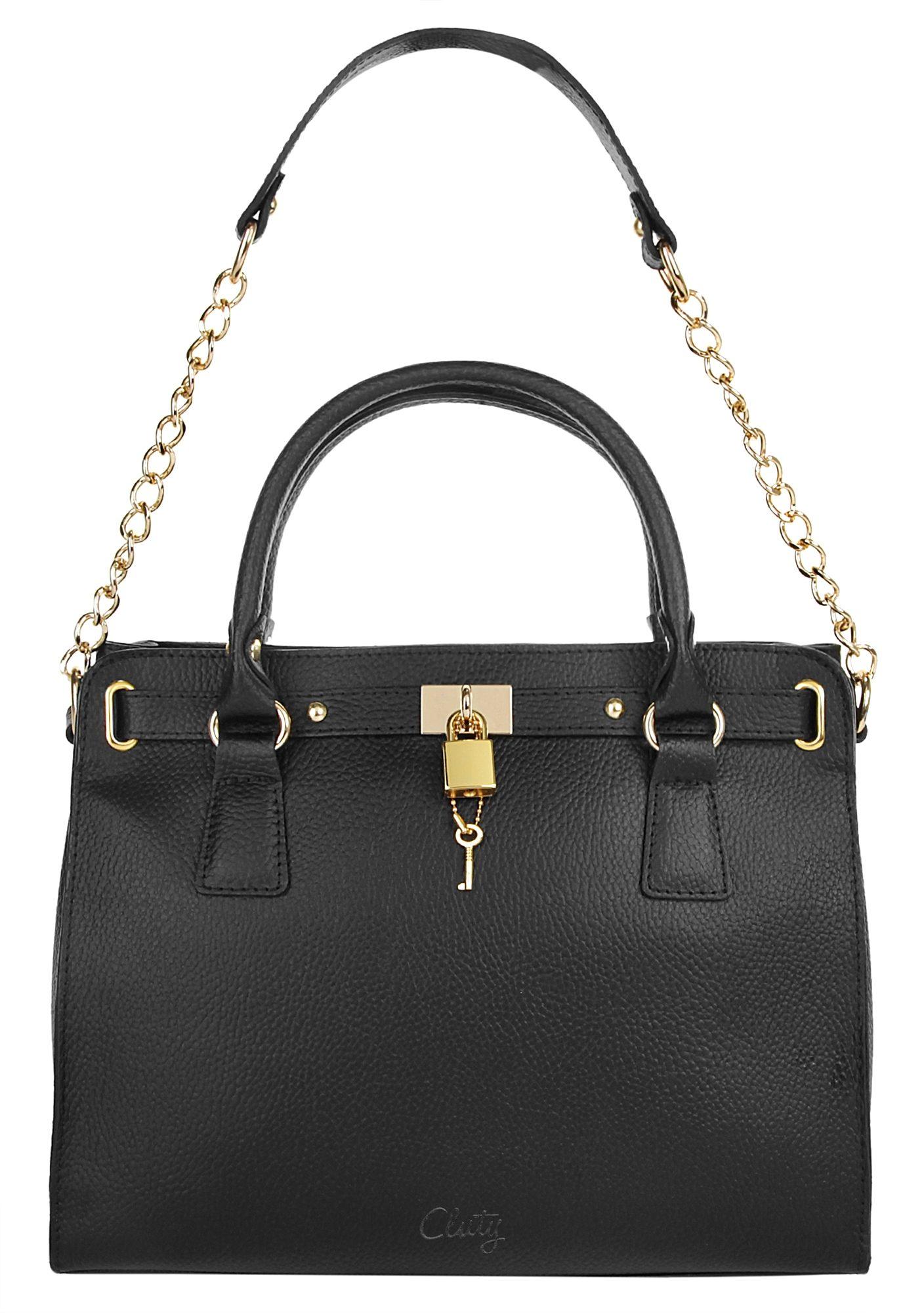 Cluty Leder Damen Handtasche