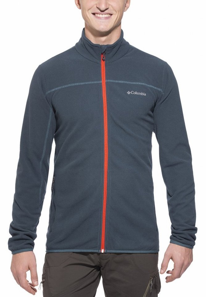 Columbia Outdoorjacke »Trails Edge Fleece Jacket Men« in grau