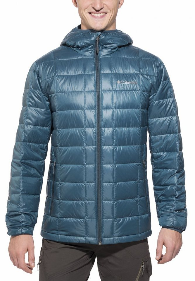 Columbia Outdoorjacke »Trask Mountain 650 TurboDown Hooded Jacket Men« in petrol