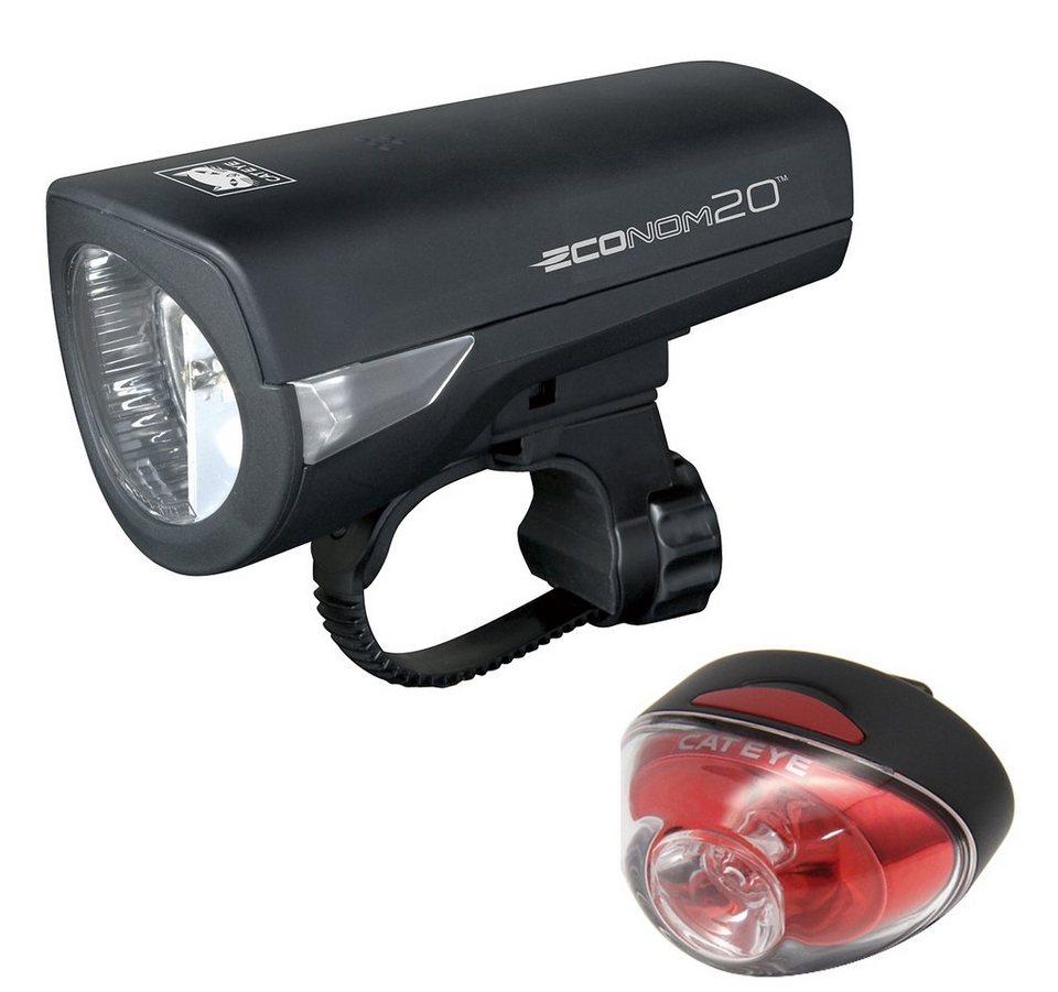 CatEye Fahrradbeleuchtung »Econom 20 Beleuchtungset HL-EL345G + TL-LD611G«