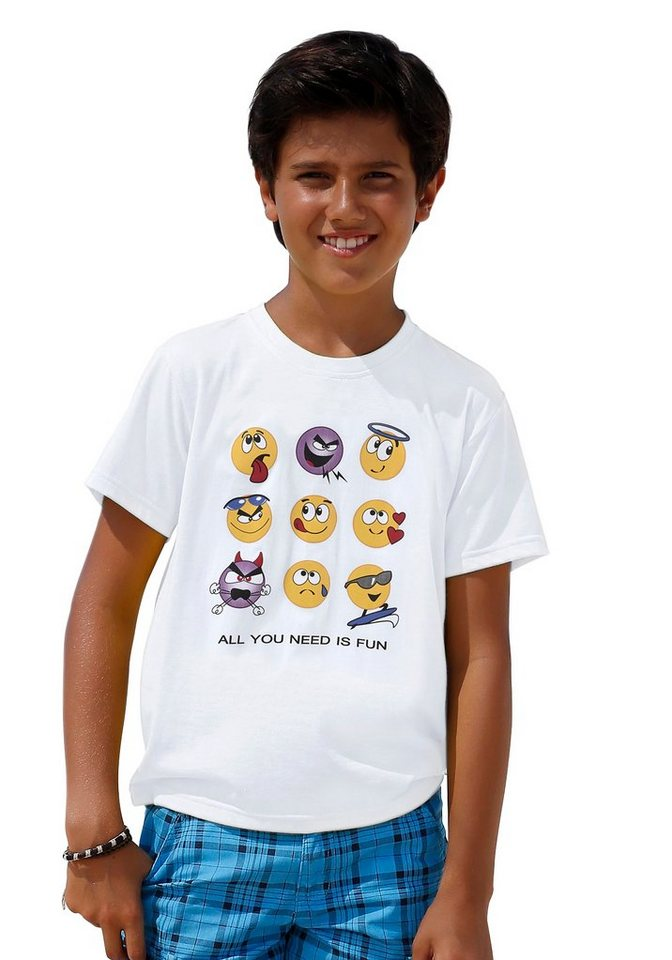 KIDSWORLD T-Shirt Spruch in weiß