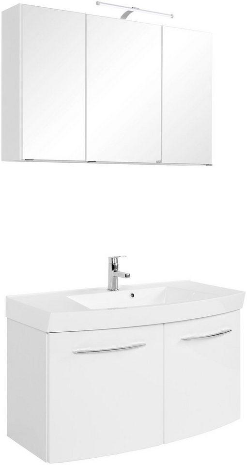 Badmöbel-Set »Florida«, Breite 100 cm, 2-tlg. in weiß