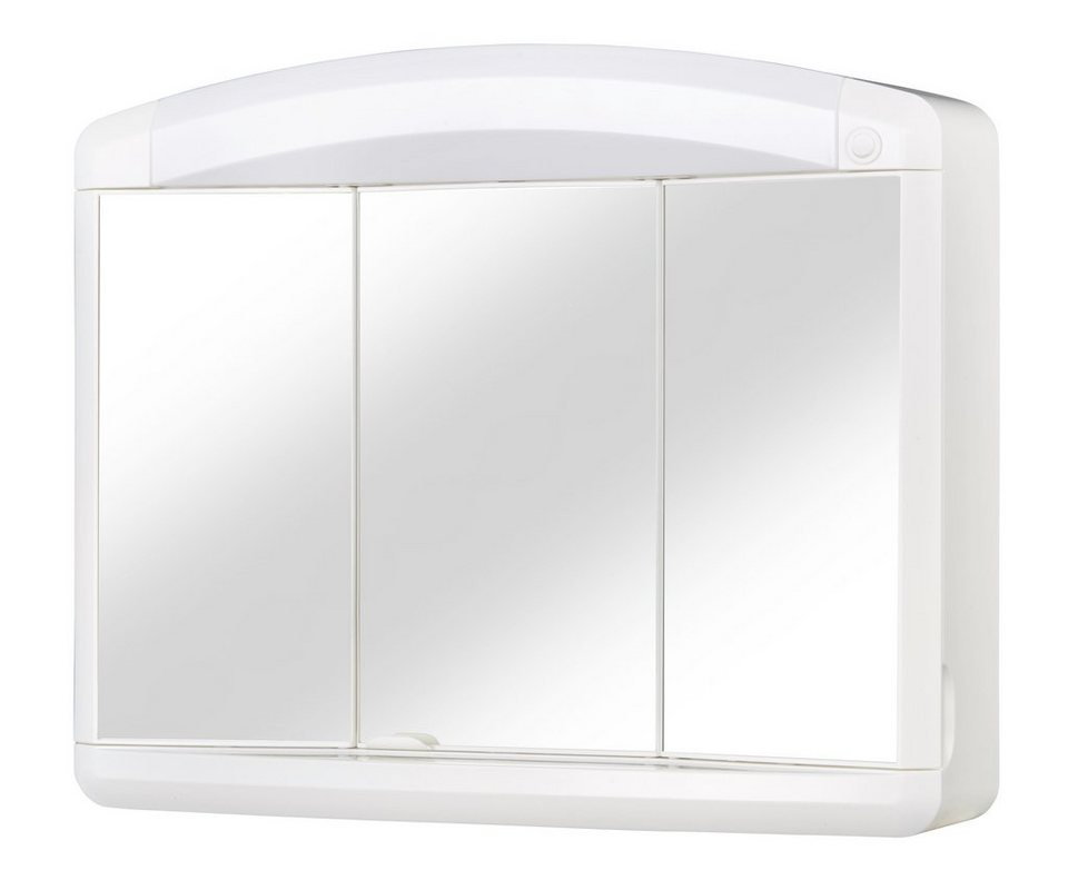 Spiegelschrank »Max« Breite 65 cm, mit Beleuchtung  in weiß