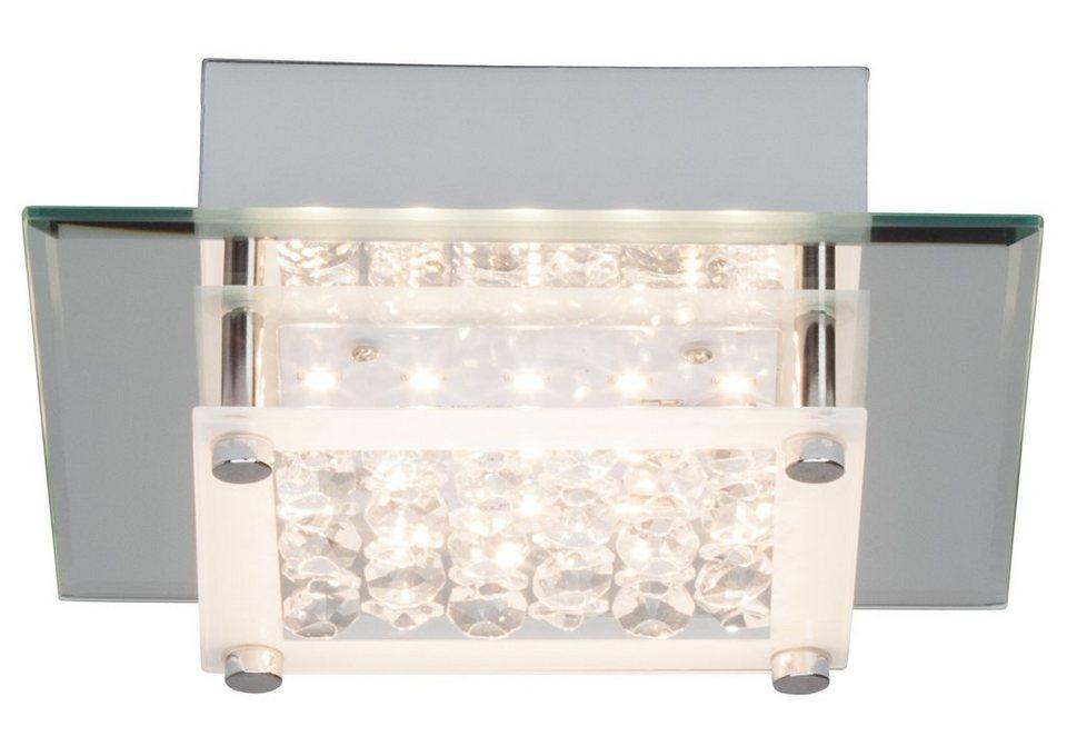 Brilliant Leuchten Wand- und Deckenleuchte, inkl. LED-Leuchtmittel, 1 flammig in Metall, Glas, chromfarben