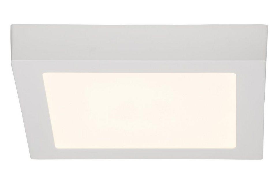 Brilliant Leuchten Wand- und Deckenleuchte, inkl. LED-Leuchtmittel, 1 flammig in Metall, Kunststoff, weiß