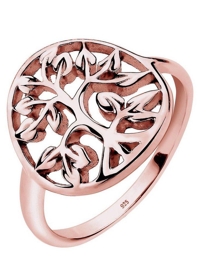 Elli Ring, »0603821615, Flora« in Silber 925, roségoldfarben