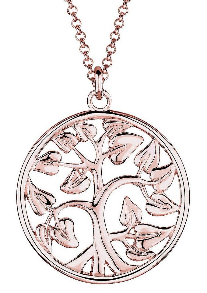 Elli Kette, »0102451015, Flora« in Silber 925, roségoldfarben
