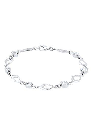 Elli Silberarmband »0210511113«, mit Kristallen
