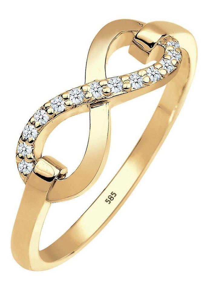 Elli Premium Ring, »0603822714, Julie« in Gelbgold 585