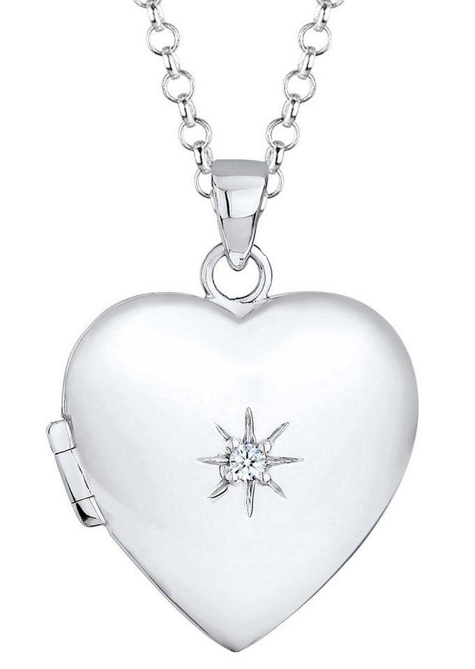 Elli Premium Kette mit Anhänger, »0102652814, Amy« in Silber 925
