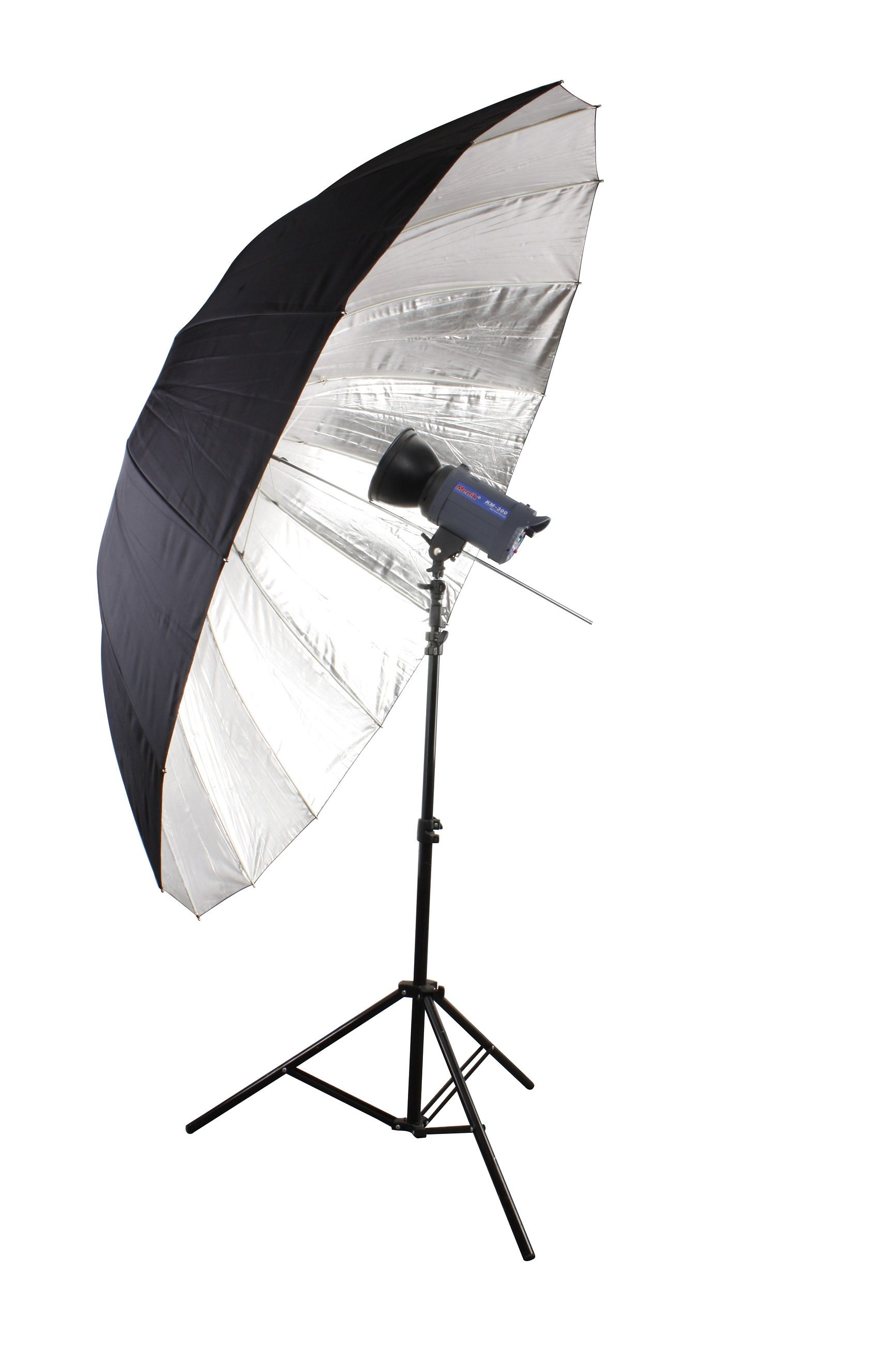BRESSER Fotostudio »BRESSER Jumbo Reflexschirm silber/schwarz 180 cm«