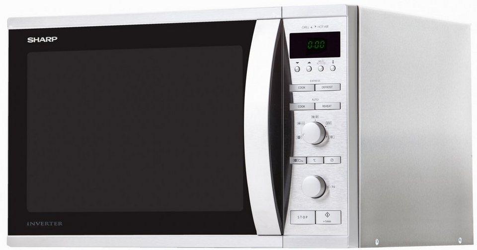 sharp mikrowelle r941stw mit grill und hei luft gro er 40 liter garraum 1050 watt online. Black Bedroom Furniture Sets. Home Design Ideas