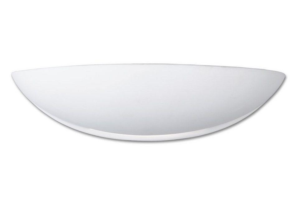 Honsel Leuchten Wandleuchte, »RAJA« (1flg.) in Keramik, weiß