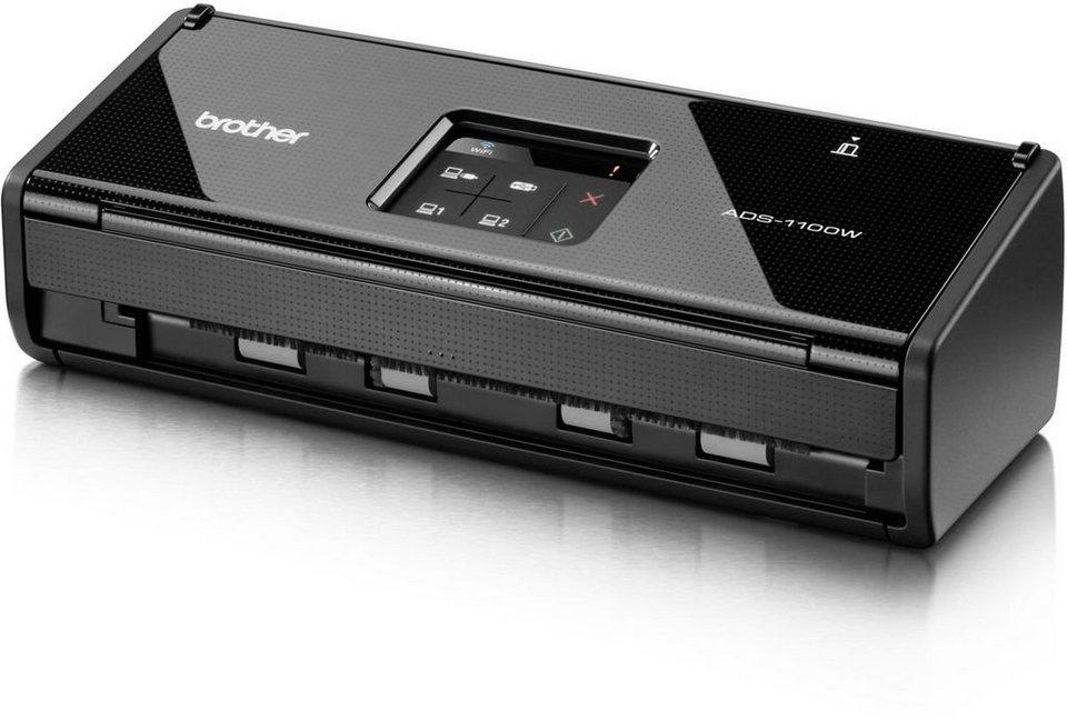 Brother Dokumentenscanner »Duplex Dokumentenscanner ADS-1100W« in Schwarz