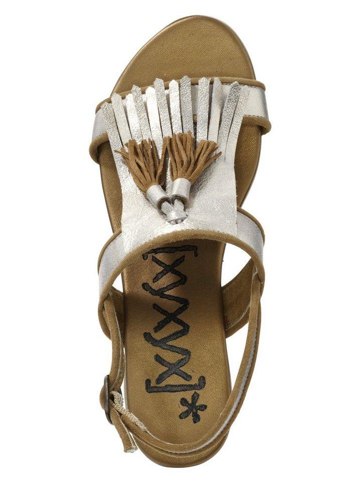 Sandalette von XYXYX in goldfarben/cognac