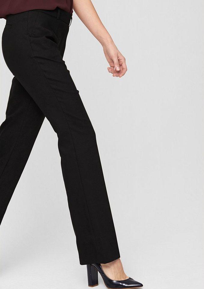 s.Oliver PREMIUM Regular: Stretchige Businesshose in glory black