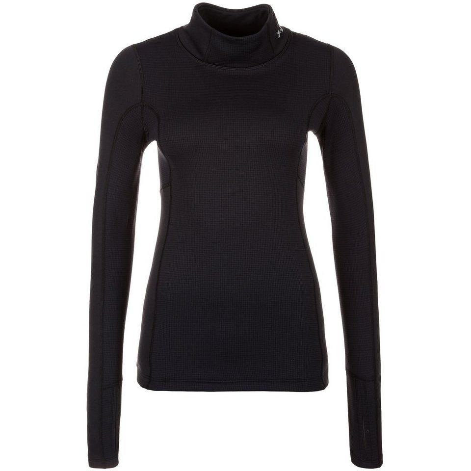 Under Armour® ColdGear Armourstretch Trainingsshirt Damen in schwarz / silber