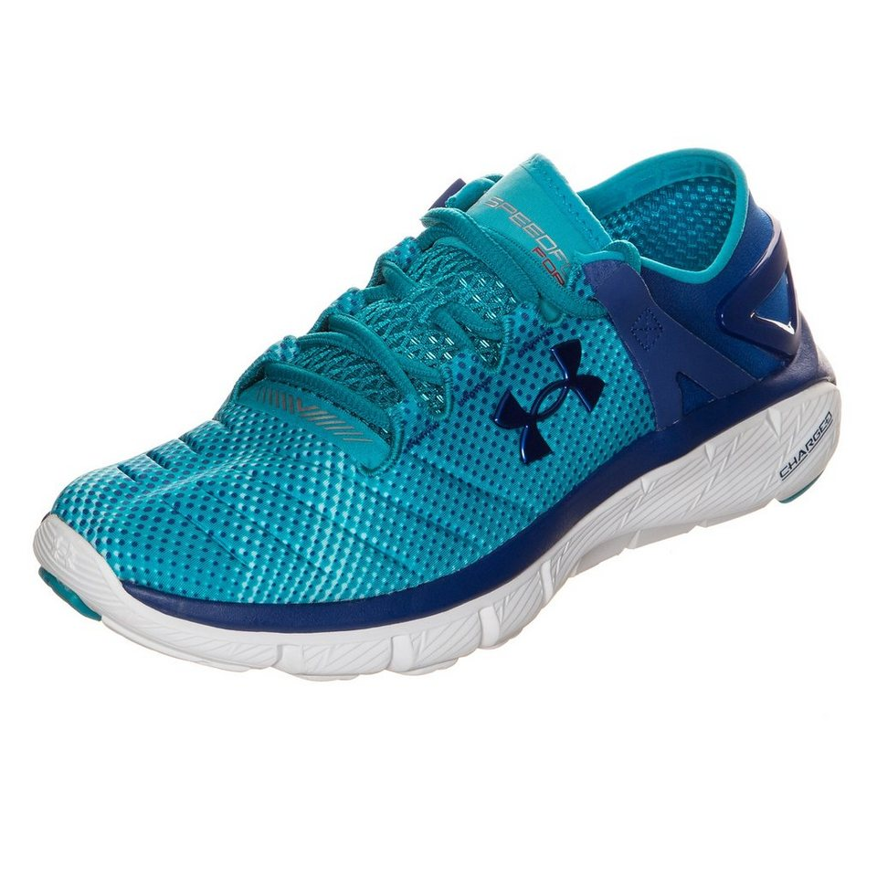 Under Armour SpeedForm Fortis Pixel Laufschuh Damen in türkis / blau / weiß