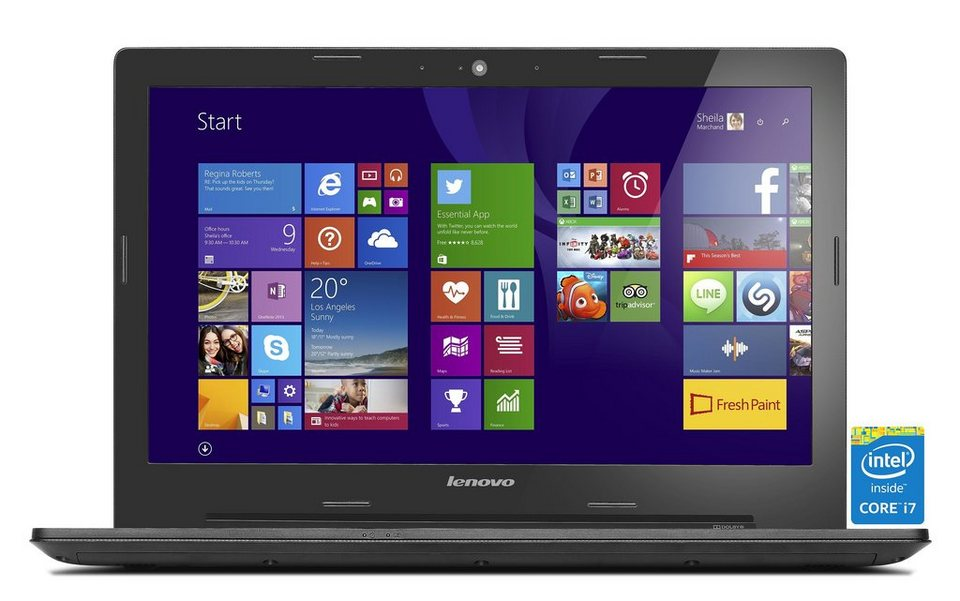 LENOVO IdeaPad G50-80 Notebook »Intel Core i7-5500U, Intel HD Grafik, 1 TB, 4 GB« in schwarz
