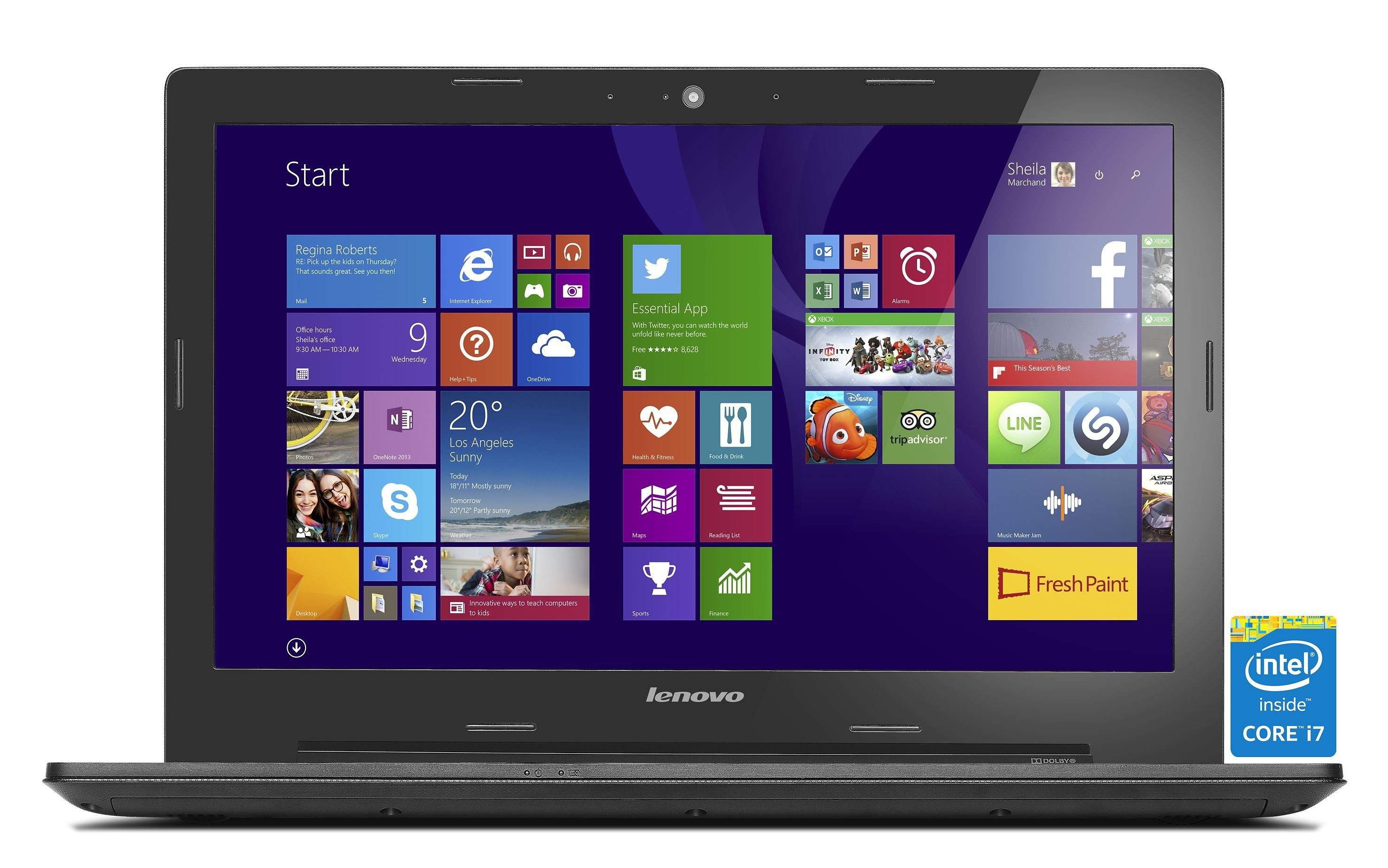 LENOVO IdeaPad G50-80 Notebook »Intel Core i7-5500U, Intel HD Grafik, 1 TB, 4 GB«