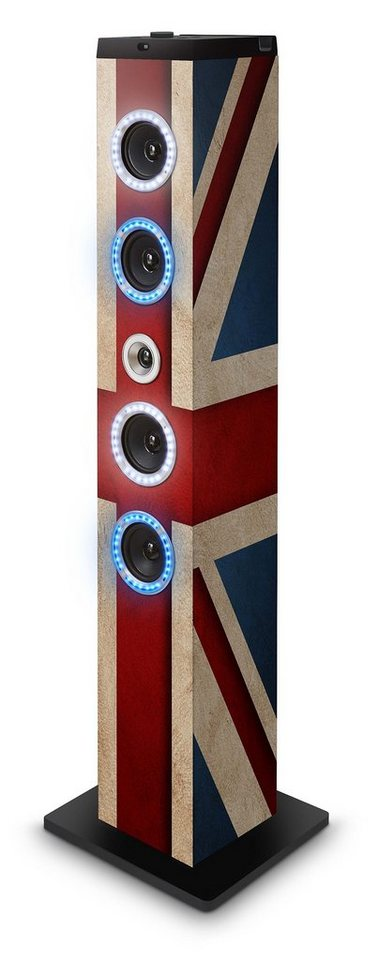 bigben Multimedia Lautsprecher »Sound Tower TW7EQ - Union Jack Blue/White Light«