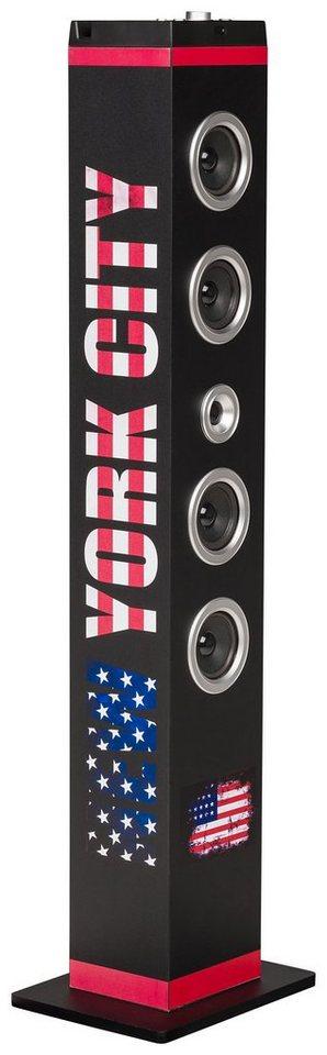 bigben Multimedia Lautsprecher »Sound Tower TW7 - New York City schwarz«