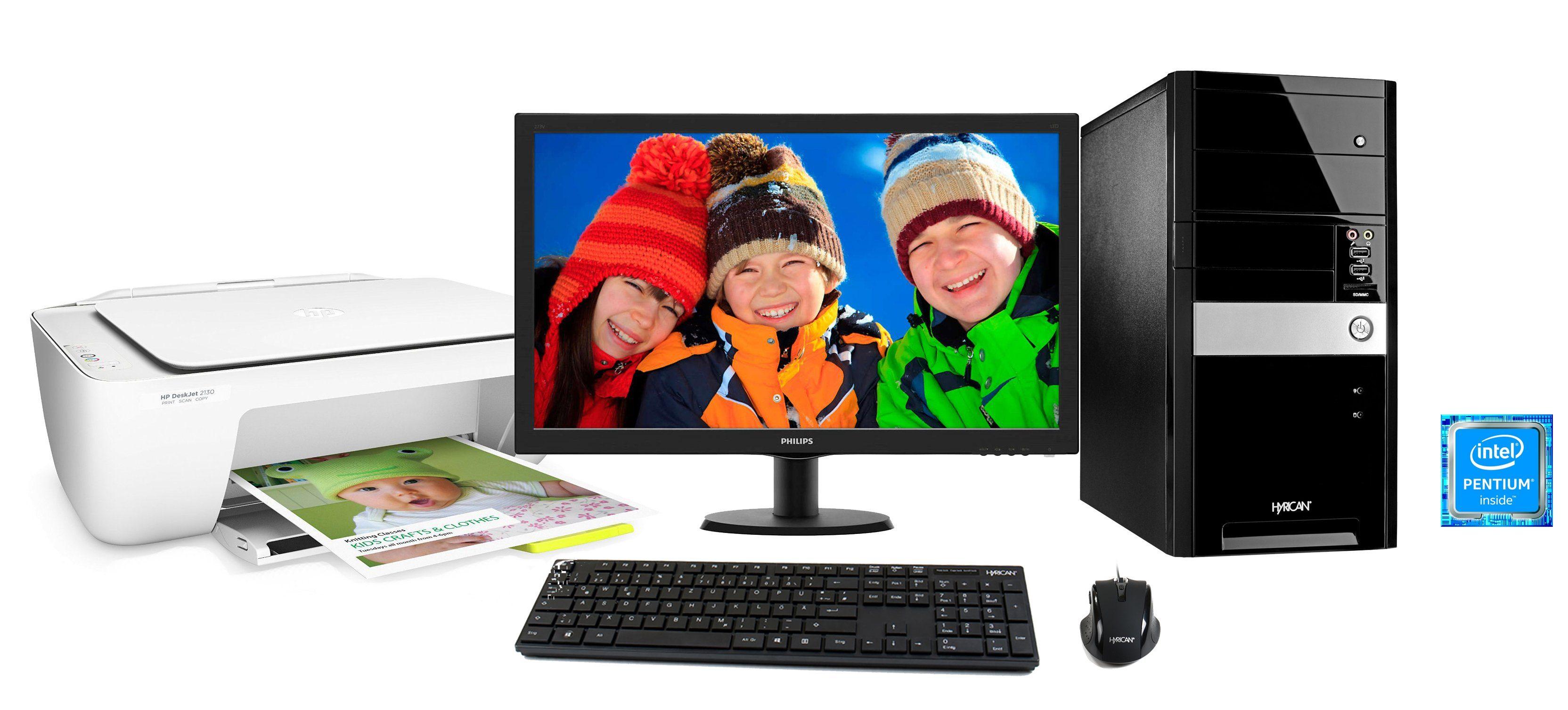 Hyrican PC Set Intel® Pentium® G4400, 4GB, 1TB, Windows 10, Monitor »PC SET01038«