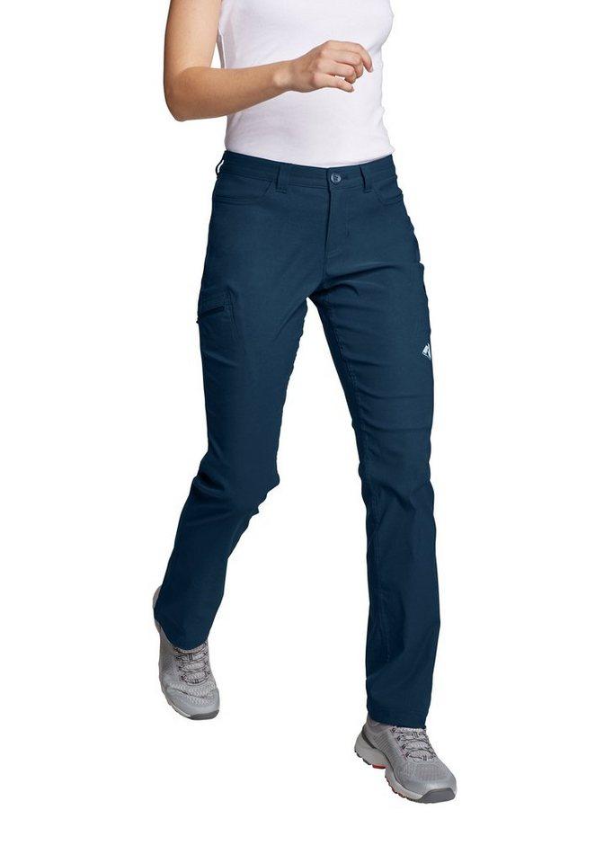Eddie Bauer Damen Guide Pro Capri Sportlich Funktionshose Uni Polyamid Bergsteigen Wasserabweisend Atmungsaktiv UV-Schutz 50 Bluesign f/ür die leicht kurvige Figur Stretch