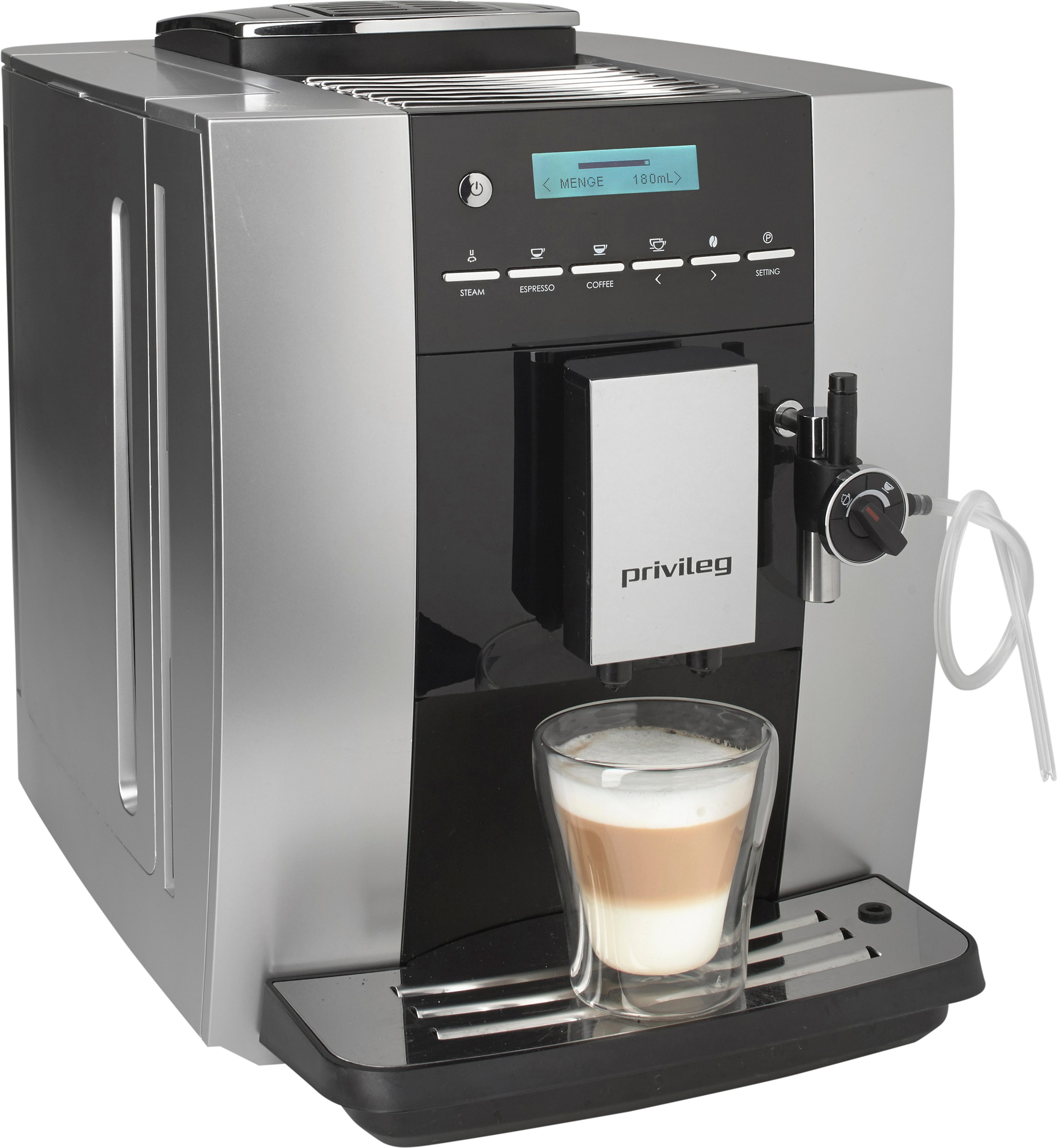 Privileg Kaffeevollautomat KLM1605S, 1,8l Tank, Kegelmahlwerk