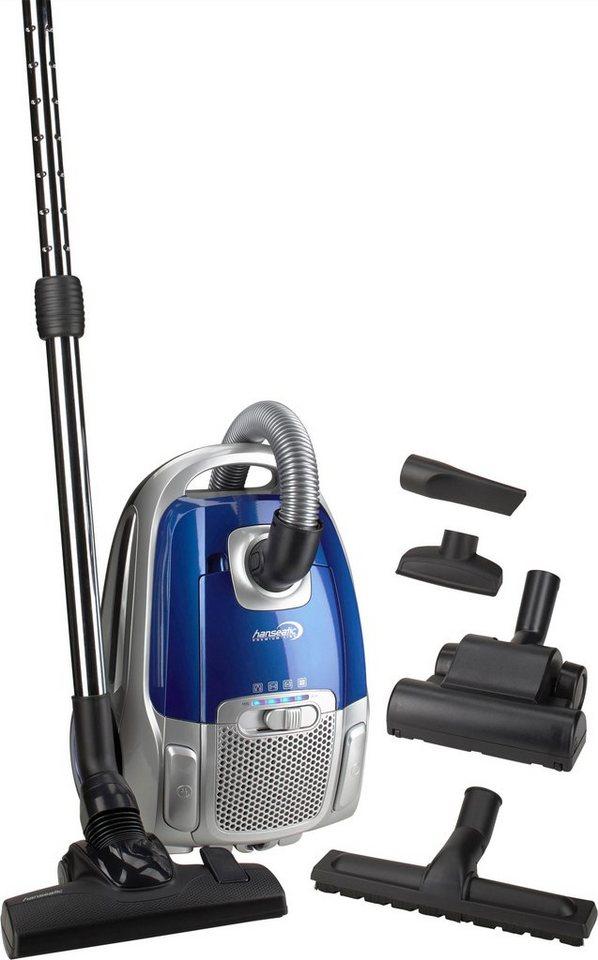hanseatic bodenstaubsauger blau 700 watt mit beutel. Black Bedroom Furniture Sets. Home Design Ideas