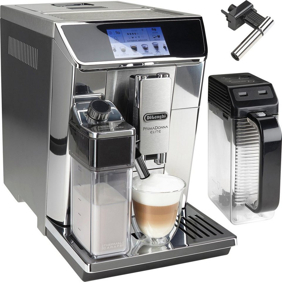 delonghi kaffeevollautomat primadonna elite ecam 2l tank kegelmahlwerk app. Black Bedroom Furniture Sets. Home Design Ideas