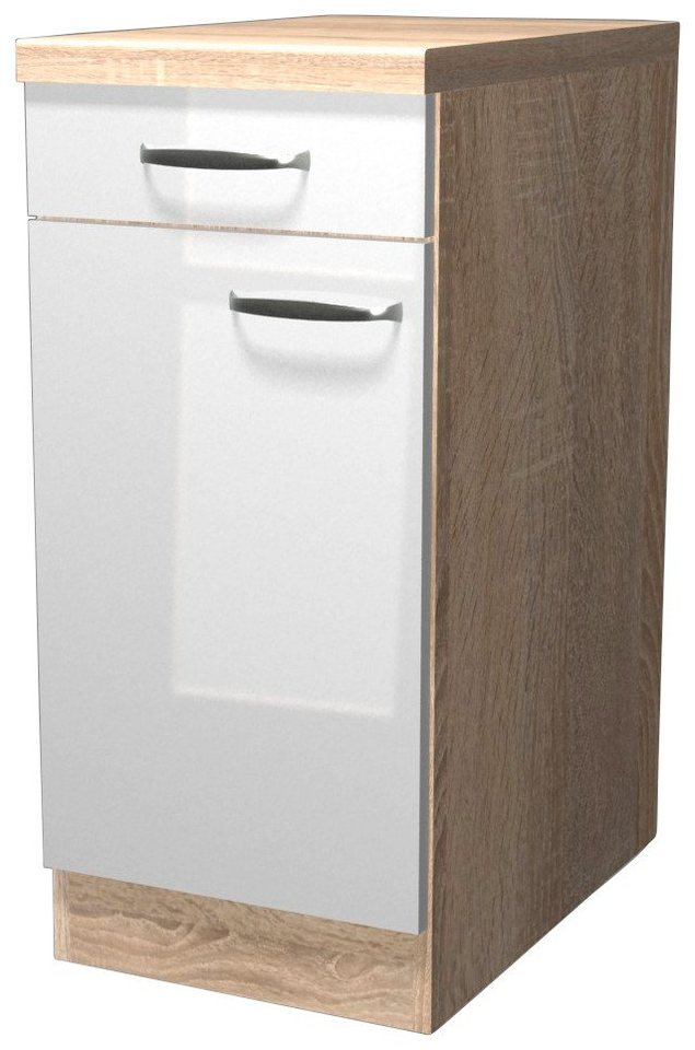 Küchenunterschrank »Florenz«, Breite 40 cm in weiß glanz