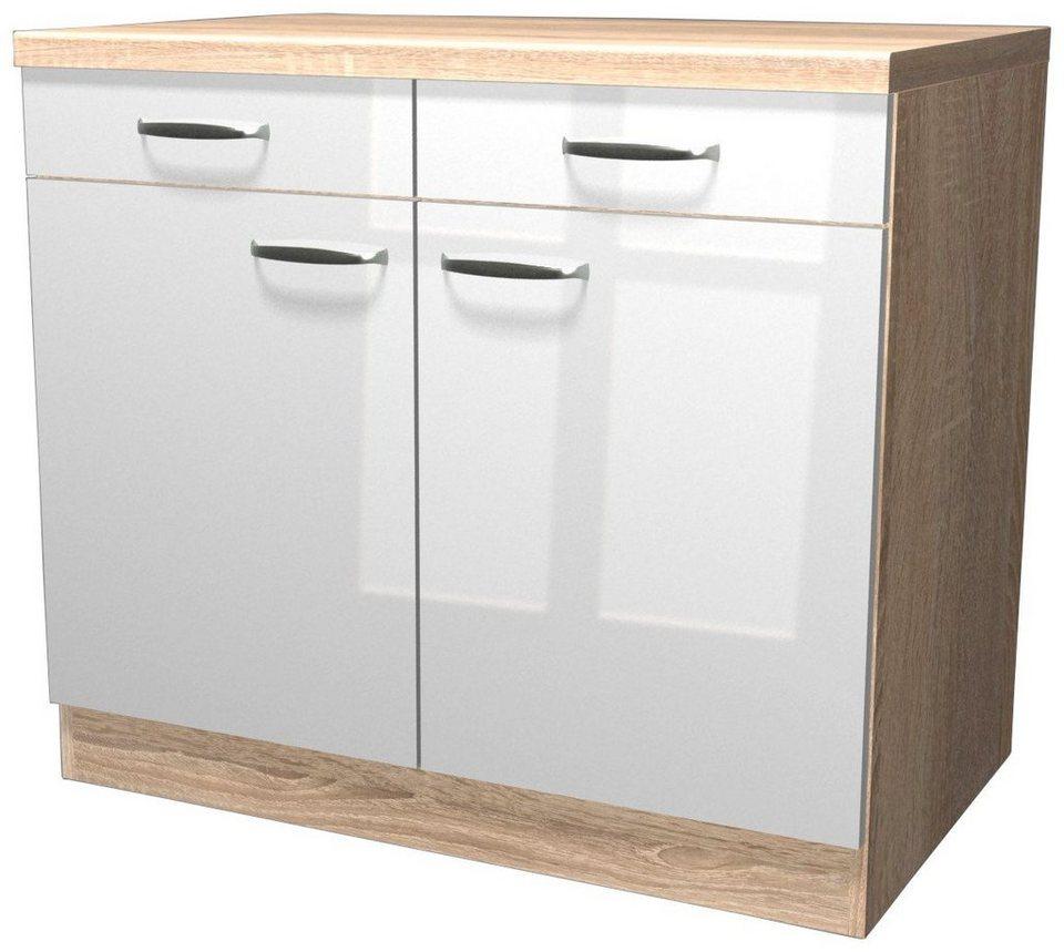 Küchenunterschrank »Florenz«, Breite 100 cm in weiß glanz